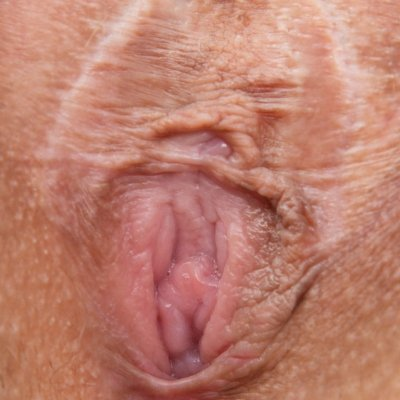Small and closed virgin pussy of Bibi close up
