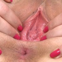 Virgin pussy with hymen in SUPER close up